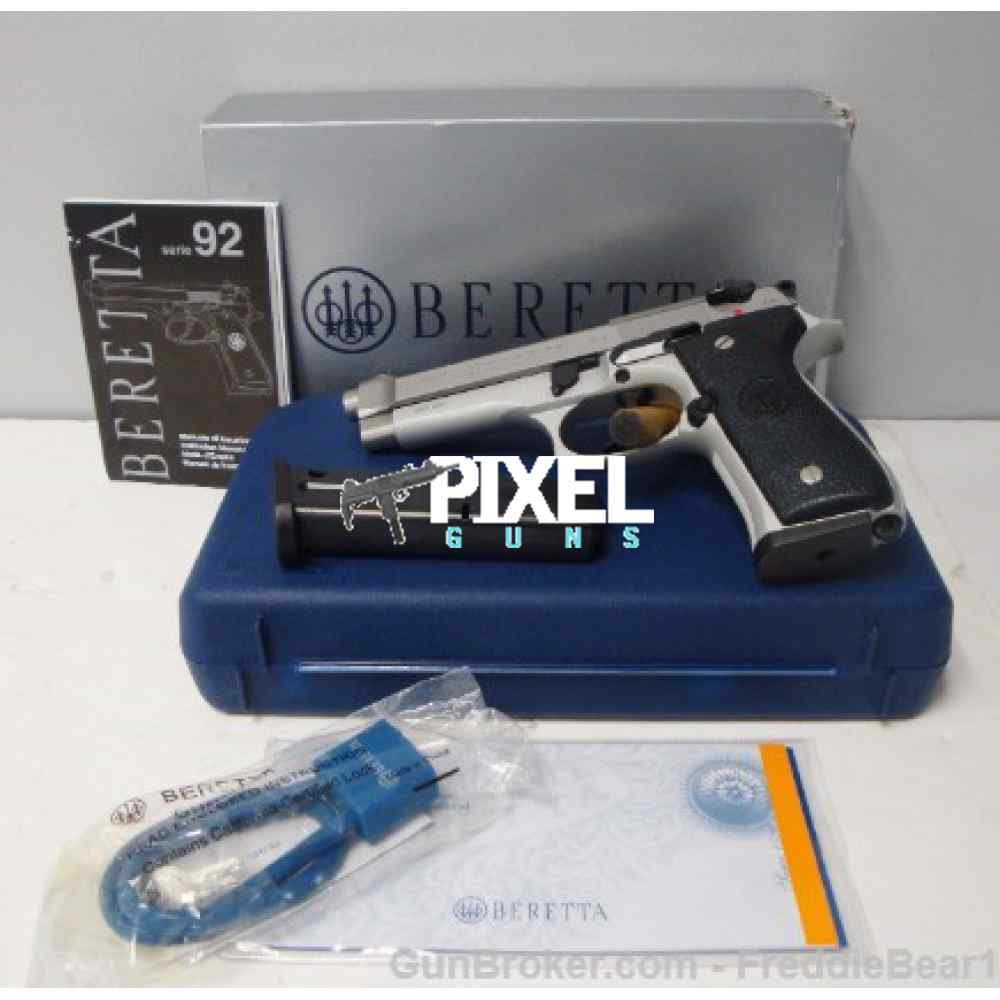 BERETTA 92FS STAINLESS INOX 9MM NEW